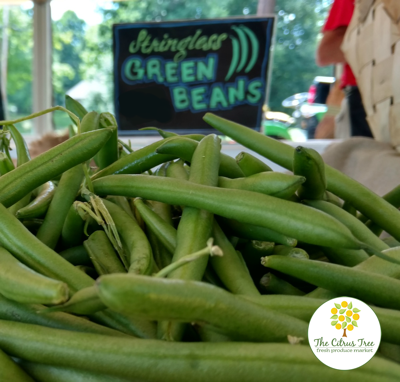 Get fresh green beans and other fruits and vegetables at The Citrus Tree.